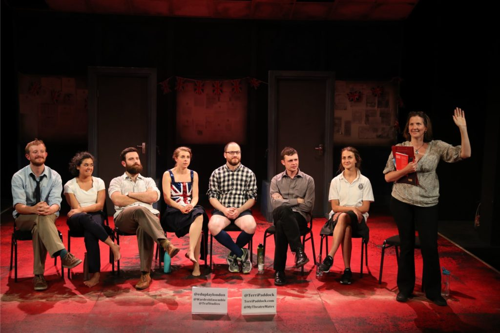 Hands up if you remember 1997. My post-show Q&A with The Wardrobe Ensemble is Education Education Education at Trafalgar Studios. © Anthony Kelly