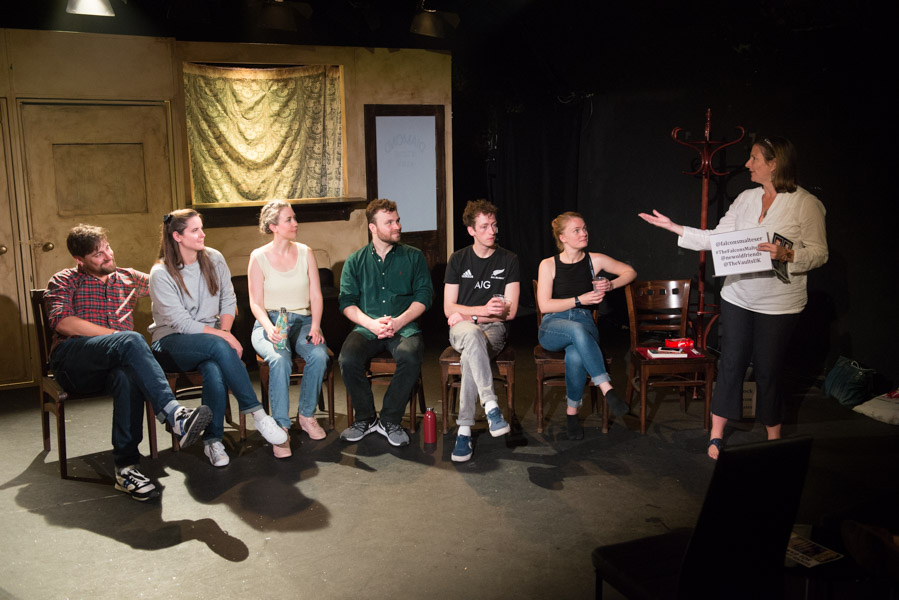 The Falcon's Malteser post-show Q&A at The Vaults. © Peter Jones