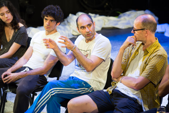 Norah Lopez Holden, Ethan Kai, Zubin Varla & Robert Fitch at Equus post-show Q&A at Trafalgar Studios, 23 July 2019. © Peter Jones
