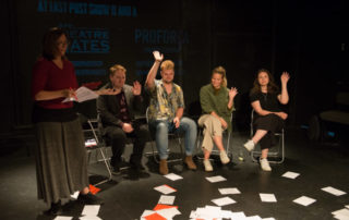 My post-show Q&A with Proforca Theatre creatives at the premiere of At Last at the Lion & Unicorn Theatre on 12 Sep 2019. © Peter Jones