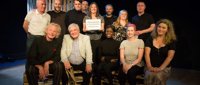 Danelaw cast and creatives at my post-show Q&A at London's Old Red Lion Theatre on 21 September 2019. © Peter Jones