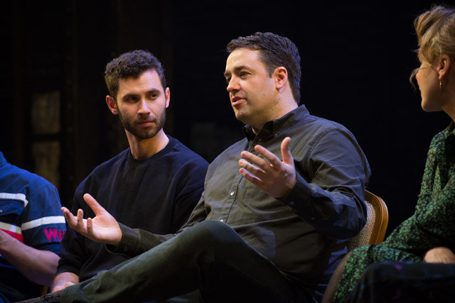 Jason Manford & Andy Coxon at my post-show talk for Curtains at the West End's Wyndham's Theatre. © Peter Jones