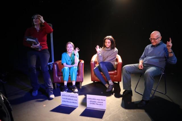 Tania Amsel, Ameena Hamid & Paul Swift at my Blood Orange post-show talk at London's Old Red Lion Theatre.