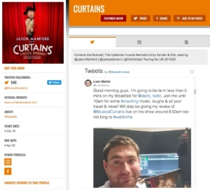 Curtains on StageFaves.com