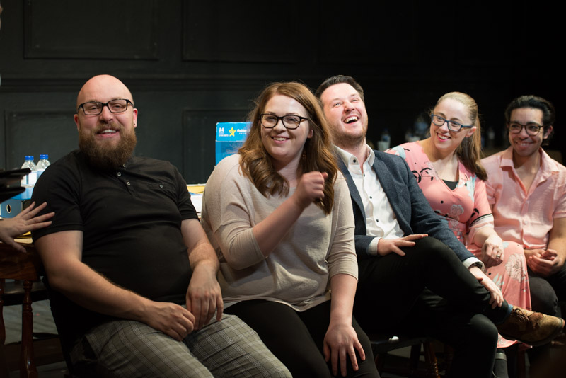 My post-show talk for The Jury at Upstairs at the Gatehouse: writers Ashley MA Walsh, Amy Fletcher, director Joseph Meigan, actors Laura Coard & Kaidyn Hinds