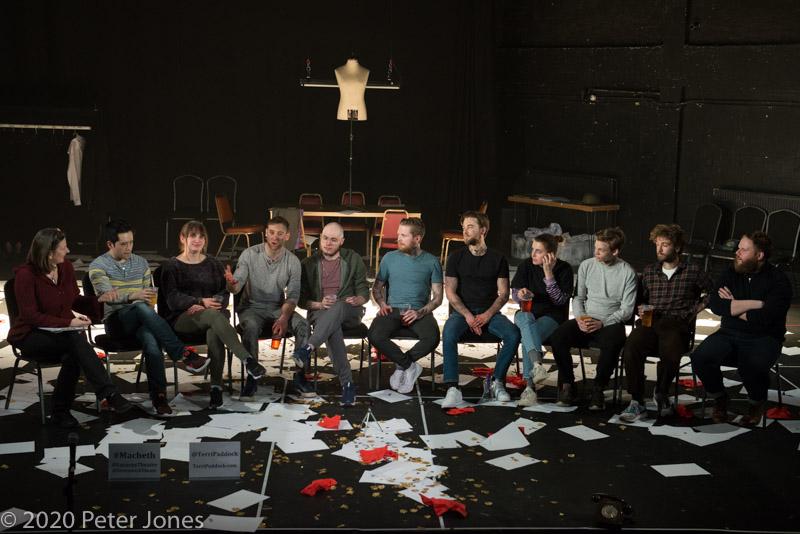 My post-show talk for Lazarus Theatre's Macbeth at Greenwich Theatre. © Peter Jones