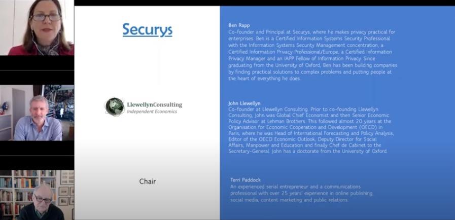 Terri Paddock hosting Securys webinar