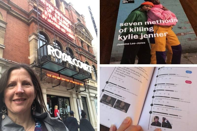 Terri Paddock attends opening night of Jasmine Lee Jones' Seven Methods of Killing Kyle Jenner at the Royal Court Theatre